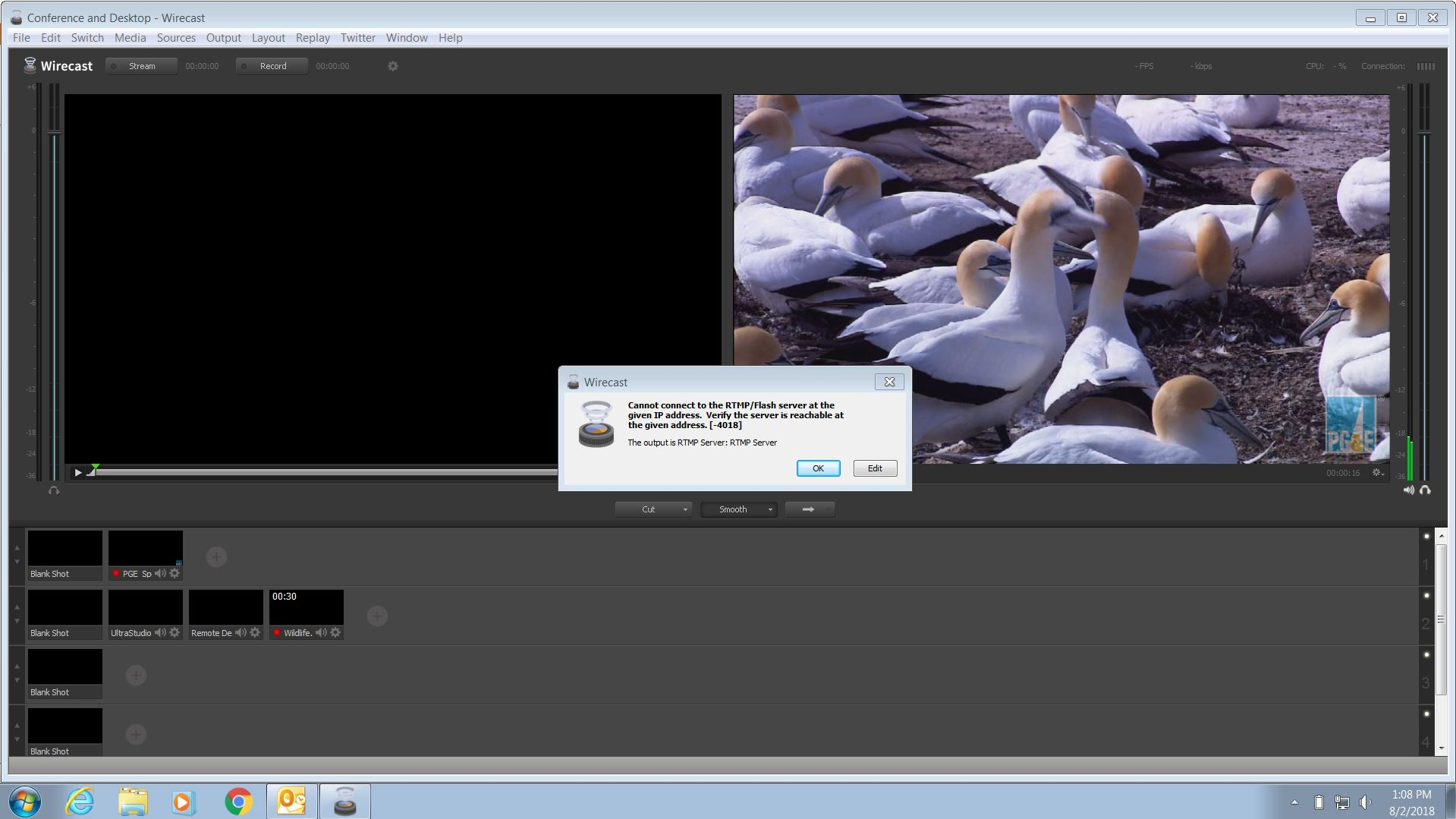 Add an RTMP address as a source for broadcast - Wirecast Capture