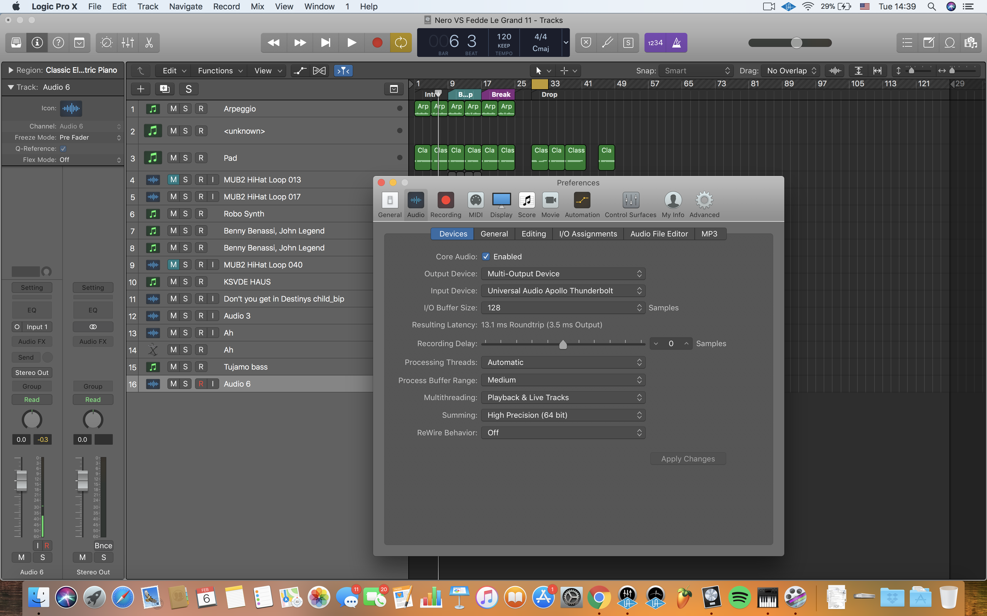 Recording Audio from mic and Logic Pro X separately into Screenflow